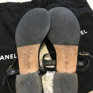 CHANEL Shoes - Chanel camellia flats sandals black